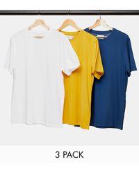 TOPMAN 3 Pack T-shirts - White