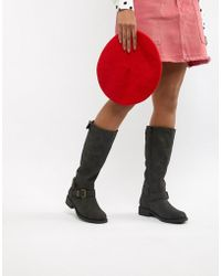 Office - Flat Knee Boots - Lyst