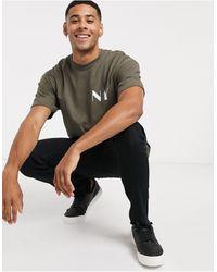 TOPMAN T-shirt With New York Print - Green