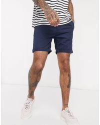 Bellfield Basic Chino Shorts - Blue