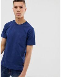 Nudie Jeans - Camiseta en azul marino Kurt Worker de Co - Lyst