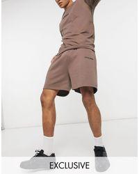 Sixth June In esclusiva per ASOS - - Essential - Pantaloncini marroni - Marrone