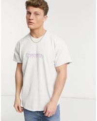 "New Look - Серо-белая Oversized-футболка С Принтом ""xperimental"" -белый - Lyst"
