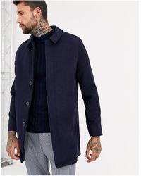 ASOS Wool Mix Overcoat - Blue