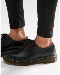 Dr. Martens Туфли На Плоской Подошве С 3 Парами Люверсов 1461 Gibson-черный Цвет