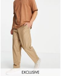 New Look Loose Fit Smart Trousers - Brown