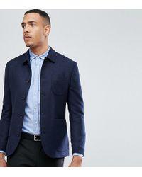 Heart & Dagger - Tall Button Through Slim Worker Jacket - Lyst