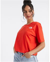 The North Face Simple Dome Cropped T-shirt - Red