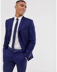 SELECTED – Enge Anzugjacke mit aufgesetzten Taschen - Blau