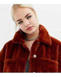 Collusion - Faux Fur Western Jacket - Lyst