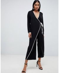 ASOS - Kimono Jumpsuit With Tipping - Lyst
