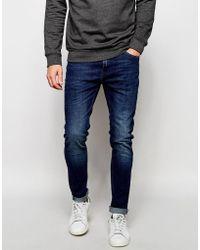 Produkt Mid Wash Jeans In Super Skinny Fit - Blue