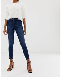 Miss Selfridge Steffi Skinny Jeans - Blue