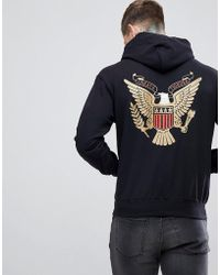 Cheats & Thieves - Cheats And Thieves Eagle Back Print Hoodie - Lyst