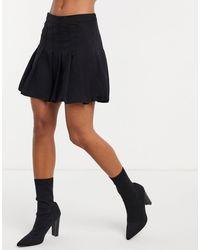 Weekday Minifalda negra plisada - Negro