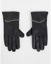 Barneys Originals - Черные Кожаные Перчатки С Цепочками Barney's Originals-черный - Lyst