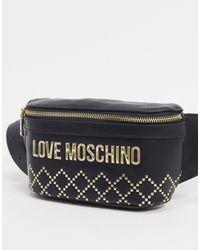 Love Moschino Черная Сумка-кошелек На Пояс С Логотипом -черный