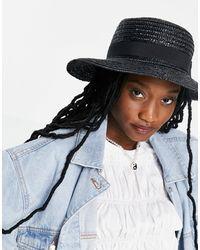 South Beach Эксклюзивная Соломенная Шляпа Канотье Черного Цвета -черный Цвет