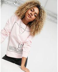 Love Moschino Розовый Свитшот С Логотипом