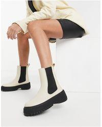 & Other Stories Бежевые Кожаные Ботинки На Массивной Подошве -бежевый - Естественный
