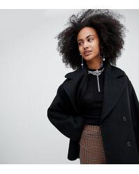 Monki Oversized Short Tailored Coat - Black