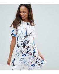 ASOS - Marble T-shirt Scuba Pephem Mini Dress - Lyst
