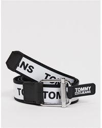 Tommy Hilfiger Черный Ремень С Логотипом -белый