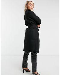 4th & Reckless 4th + Reckless - Manteau avec ceinture - Noir