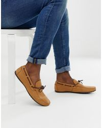 ASOS Driving Shoes In Tan Soft Leather - Brown