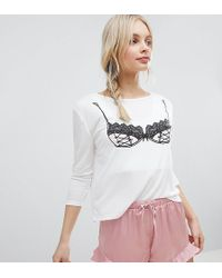 MINKPINK - Pink Bra Pyjama Set - Lyst