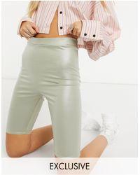 Collusion Шалфейно-зеленые Леггинсы-шорты Из Искусственной Кожи -зеленый