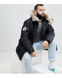 b07ef5084 Plus Parka With Faux Fur Hood In Black