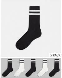 River Island 5 Pack Socks - Black