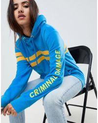 Criminal Damage - Stripe Hoodie - Lyst