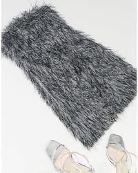 Club L London - Metallic Feather Look Bandeau Dress - Lyst