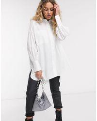 TOPSHOP Poplin Shirt - White