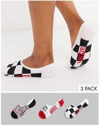 Vans Boys Girls Canoodles 3pk Socks - Multicolour