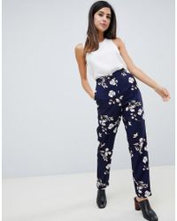 Vila - Floral Suit Trousers - Lyst