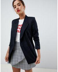 Oasis Longline Blazer In Black