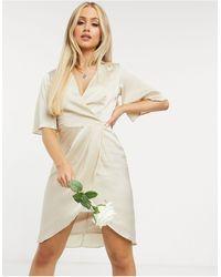 TFNC London - Платье Миди С Рукавами-кимоно Bridesmaid-розовый - Lyst