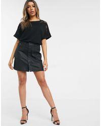 G-Star RAW Coated Mini Skirt - Black