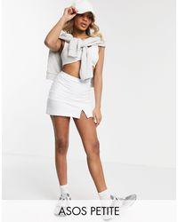 ASOS Asos Design Petite Tennis Skort - White