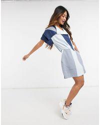 10 Crosby Derek Lam Paneled Colorblock Dress In Blue
