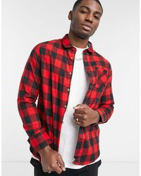 Brave Soul Check Shirt - Red