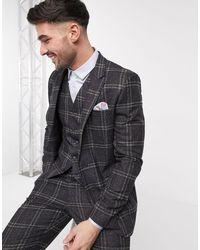 ASOS Wedding Slim Suit Jacket - Brown