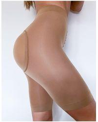 ASOS Padded Bum Enhancing Anti-chafing Shorts - Natural