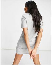 Brave Soul Серое Платье-футболка С Контрастной Окантовкой Lennie От -серый