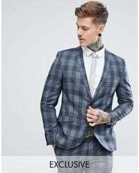 Heart & Dagger Slim Suit Jacket - Gray