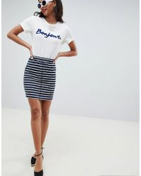 Esprit - Stripe Jersey Mini Skirt - Lyst