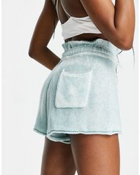 Free People Summertime Blues Shorts With Drawstring Waist